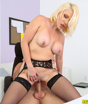 Hot blonde female with big boobs