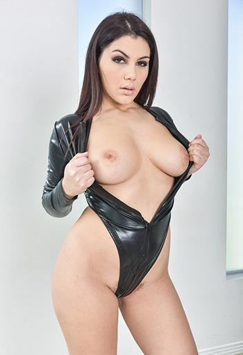 Hot solo girl Valentina Nappi strips